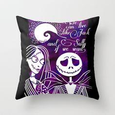 Jack and Sally  Throw Pillow by nessawankenobi - $20.00 The Nightmare Before Christmas