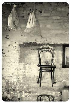 Old chair. Highfield House. Stanley. Tasmania. Australia.