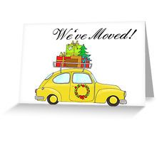 We've Moved Christmas Car New Address Announcement Greeting Card
