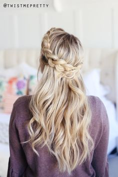 I love the crown braid because it's just one of those classic styles you can't go wrong with. It's quick, beautiful, perfect for second day hair.