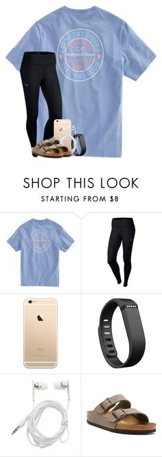 """yay for fridays"" by taylorvel ❤ liked on Polyvore featuring NIKE, Fitbit, Forever 21 and Birkenstock"