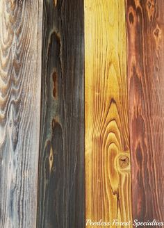"""1""""x 6"""" Pine. A few of our favorites. Wild White, Midnight Blue, Aged Yellow, Old Red Barn"""