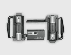 Handycam + projector... making it easy.