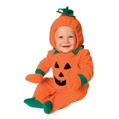 #Trendy Halloween - #Palamon Pumpkin Onesie Infant Costume - AdoreWe.com