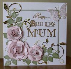Card with Spellbinders roses