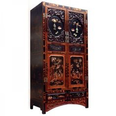 Chinese Elm Wedding Cabinet Chinese Furniture, Cabinet Styles, China, Chinese Antiques, Tall Cabinet Storage, Wedding, Ebay, Beautiful, Cabinets
