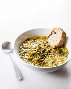 Golden French Lentil Stew from Oh She Glows Every Day (Oh My Veggies) Oh She Glows Cookbook, Soup Recipes, Vegan Recipes, Vegetarian French Recipes, Puy Lentil Recipes, Vegetarian Soup, Recipies, French Green Lentils, French Lentil Soup