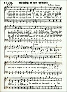 T T sheet music Standing On The Promise This Is Gospel Lyrics, Gospel Music, Music Lyrics, Music Songs, Hymns Of Praise, Praise Songs, Worship Songs, Church Songs, Church Music