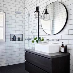 "d4b67a40cc7 D E S I G N T W I N S on Instagram  ""LOVE the Flynn round mirror in this  bathroom by  bryant alsop architects!!! 🙌🏼 we have Flynn s available in  Sydney ..."