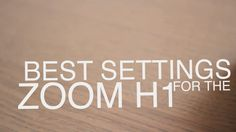 A video showing some settings you can configure on your Zoom H1 to get the best quality for any recording. It took me quite a bit of playing around with it a...