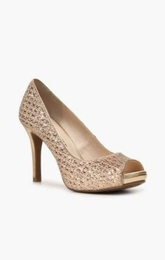1527591f324 Audrey Brooke Quillan Platform Pump at DSW. Comes in silver and gold and  wide width available