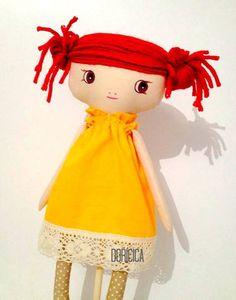 Red hair rag doll