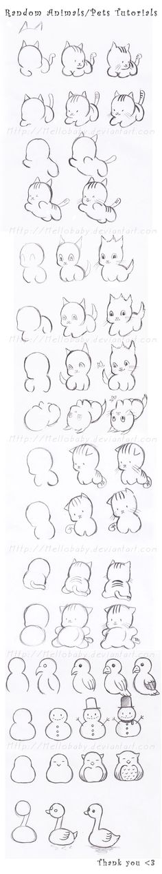 Random Pets-Animals Tutorials by Hellobaby on deviantART