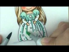 Good Witch Avery Copic Coloring Card Kit