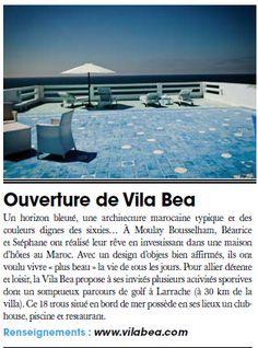 Vila Bea dans le Journal du golf