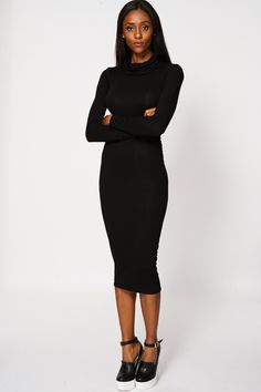 Cowl Neck Fitted Dress