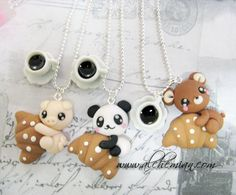 Handmade Polymer Clay Cute necklace by AlchemianShop on Etsy, €18.00    *Waay too cute!*