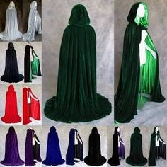 Us Party Favors Halloween Witch Velvet Cloak Hooded Cape Wedding