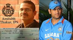 Blogsters: IPS officer Amithabh Thakur presents cheque to Ind...