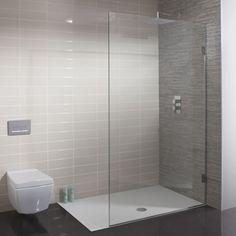 Ensuite - walkin shower TEN Single Fixed Panel in Ten Bathroom Design Small, Bathroom Layout, Bathroom Interior, Modern Bathroom, Bathroom Designs, Bathroom Remodeling, Bathroom Shower Panels, Steam Showers Bathroom, Glass Shower
