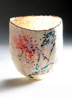 Squashed porclian vase by IMISO CERAMICS