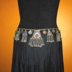 Tribal Belly Dance Jewelry Tribal Belly Dance Belt - Kuchi Jewelry