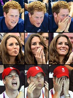 Watching the Royals watching the Olympics!
