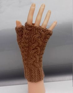 Camel Brown Fingerless Gloves 100% Cashmere Warm Cozy Hand Warmers Stocking Stuffers Elegant Design Women Gloves by Dorsiana on Etsy