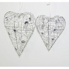 Decorative Hearts with Crystals Wedding Decor Ideas