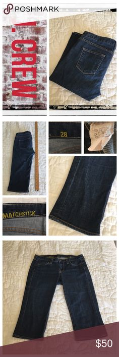 J. Crew matchstick slim Capri jeans BNWOT.                                                                REASONABLE OFFERS ONLY- -Smoke and pet free - I try to stay around 75% off MSRP; please keep this in mind when making offers.  -I do not model anything; everything looks different on everyone and I don't wasn't too Jade that. I will provide measurements if needed.  -NO HOLDS, NO TRADES, POSH RULES ONLY! J. Crew Jeans Ankle & Cropped