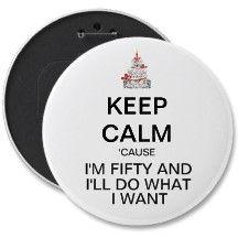 Fiftieth Birthday Button