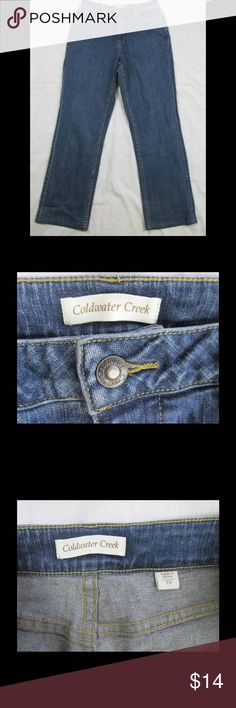 Coldwater Creek Shape Me Boot Cut Slimming Jeans Coldwater Creek Women's 10 Shape Me Stretch Boot Cut Slimming Jeans 29 in Inseam  Shelf #J31  Waist:  30 in. Inseam:  29 in. Outseam:  40 1/4 in. Front Rise:  11 in. Back Rise:  11 3/4 in. Hips:  41 1/2 in. Thighs:  22 1/2 in. Leg Opening:  18 in. Coldwater Creek Jeans Boot Cut