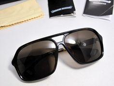 2bf21596d28 Valuable Chrome Hearts Box Lunch Dark Tortoise Sunglasses New