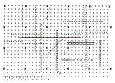 """A VOID BUILDING: paavo: Archizoom No-Stop City (1969) Plan made up of punctuation, small """"o"""", equal signs, the letter """"N"""", """"Z"""", and """"0"""" and """"W(?)""""."""
