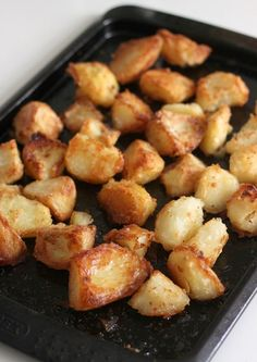 How to make the perfect roast potatoes - fluffy middles and super crispy edges!