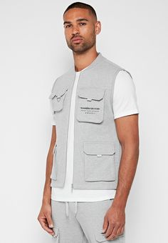 Cargo Vest, Mens Cargo, Military Vest, Zip Puller, Triangle Ring, Pocket Detail, Grosgrain, Chef Jackets, Street Style