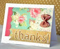 Thanks! - Card with Bow pasta | Agus Yornet Blog