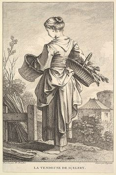 The Seller of Celery by John Ingram (British, London 1721 active to 1763)