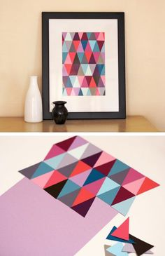 DIY - Paint Chip Art Tutorial. I tried this and failed at it, still a cool idea. Maybe I'll try it again.