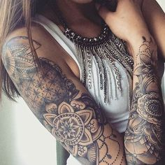Beautiful sleeve tattoo - I can't see how someone can say that all tattoos are ugly??