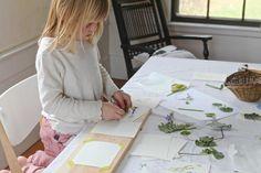 making leaf prints • justine hand • via remodelista