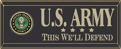 """Country Marketplace - United States Army 18"""" Wood Sign, $24.99 (http://www.countrymarketplaces.com/united-states-army-18-wood-sign/)"""