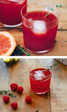 Raspberry Campari Smash with Grapefruit