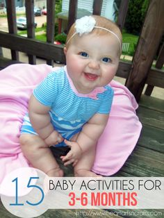 15 Baby Activities For Months Top 15 baby activities for months that promote your babies physical, cognitive, and language development!Top 15 baby activities for months that promote your babies physical, cognitive, and language development! 6 Month Baby Activities, Infant Activities, Activities For Kids, Physical Activities, Physical Education, Baby Education, Activity Ideas, Toddler Play, Baby Play