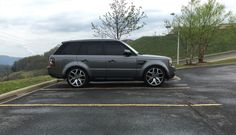 Range Rover Sport with 2016 22inch autobiography wheels.
