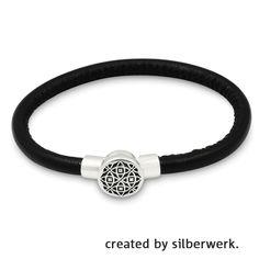 Armband aus weichem Leder! Deine RingDing-Tops lassen sich ganz einfach auf das Gewinde aufschrauben!