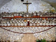 Hallstatt, Austria-After 12-15 yrs they dig up the dead and lovingly place the bones in this room. This town is on the side of a mountain so they ran out of room. I don't think they are doing this now...but I could be wrong