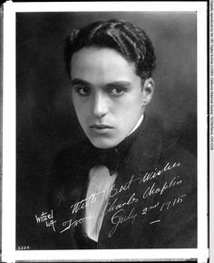 Rubyberry: In case you wanted more Charlie Chaplin  Never enough Chaplin! This looks like it's from the year before the last photograph, 1915, when he would have been 22.