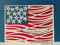 Inspired Stamping by Janey Backer: Memorial Day; Events And More!, Swirly Scribbles, Patriotism, American, USA flag, Stampin' Up!