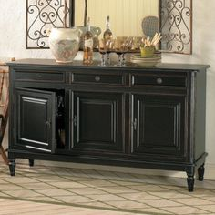 Dehaviland 3-Drawer Console - traditional - buffets and sideboards -  - by Ballard Designs